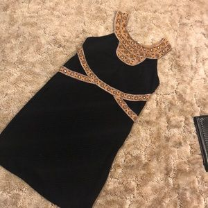 Free People Stretchy Black Sequin Dress
